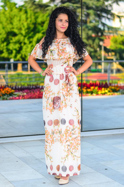 086154e6d73 Дълга лятна рокля Лена - Дамски онлайн магазин зa рокли