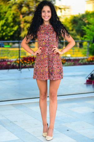 Къса рокля от памучна материя Елиза