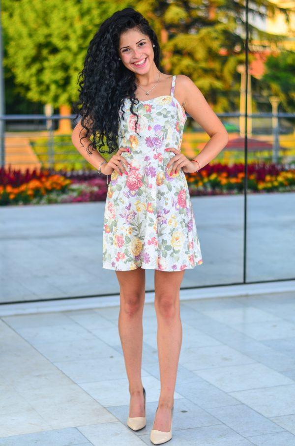Цветна къса лятна рокля Натали