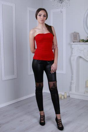 Бюстие в червен цвят