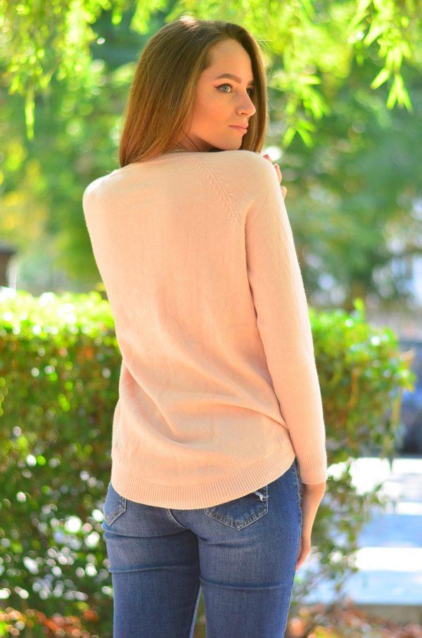 Кашмирна блуза с дълъг ръкав