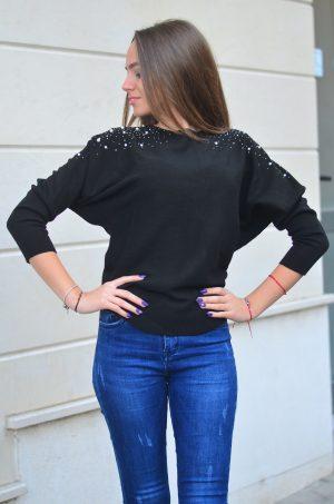 Дамска блуза с прилеп ръкави