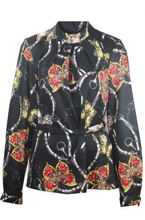 Елегантна блуза с абстрактен принт
