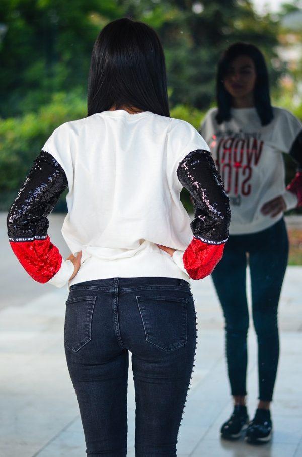 Дамска ежедневна блуза с пайети
