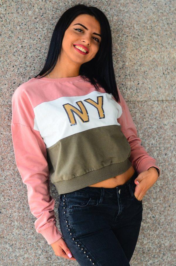 Дамска спортна къса блуза NY